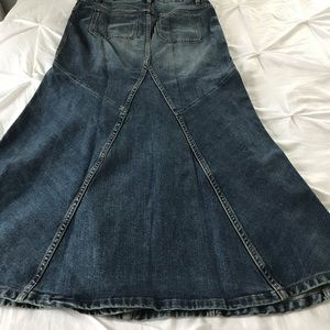 Free People Skirts - Free People Penelope Denim Maxi Skirt Button Front
